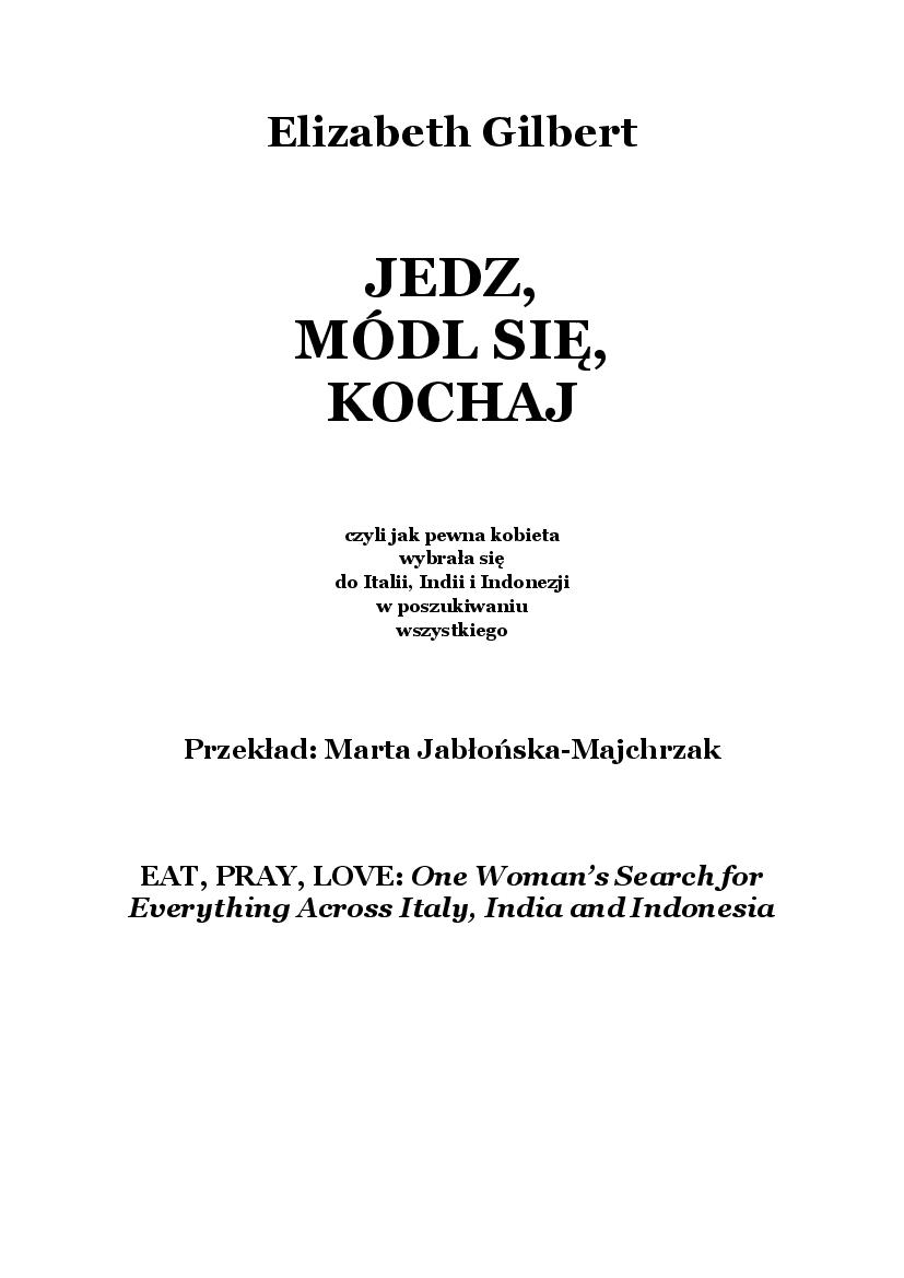 jedz módl się kochaj chomikuj pdf