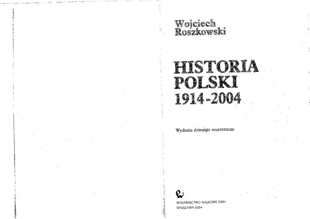 wojciech roszkowski najnowsza historia polski pdf