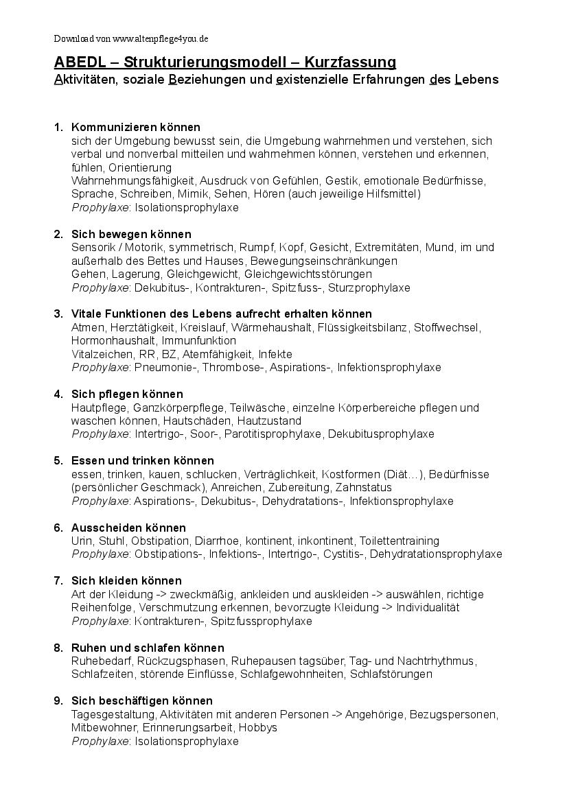 AEDL - Pflegekonzept - Standard Systeme