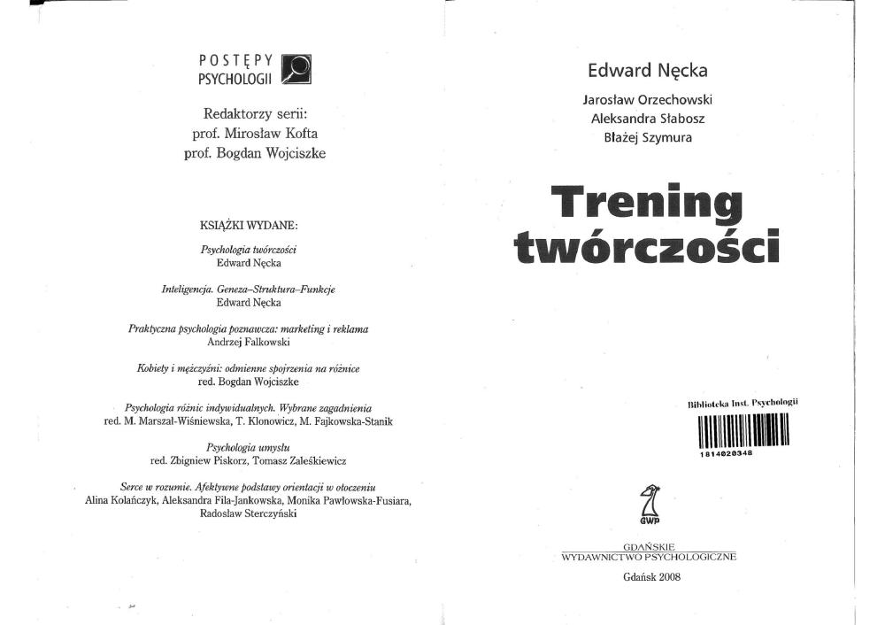 trening twórczości nęcka pdf chomikuj