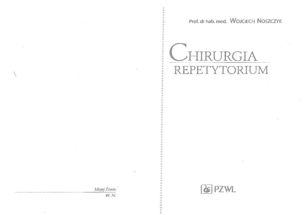 chirurgia repetytorium noszczyk pdf chomikuj