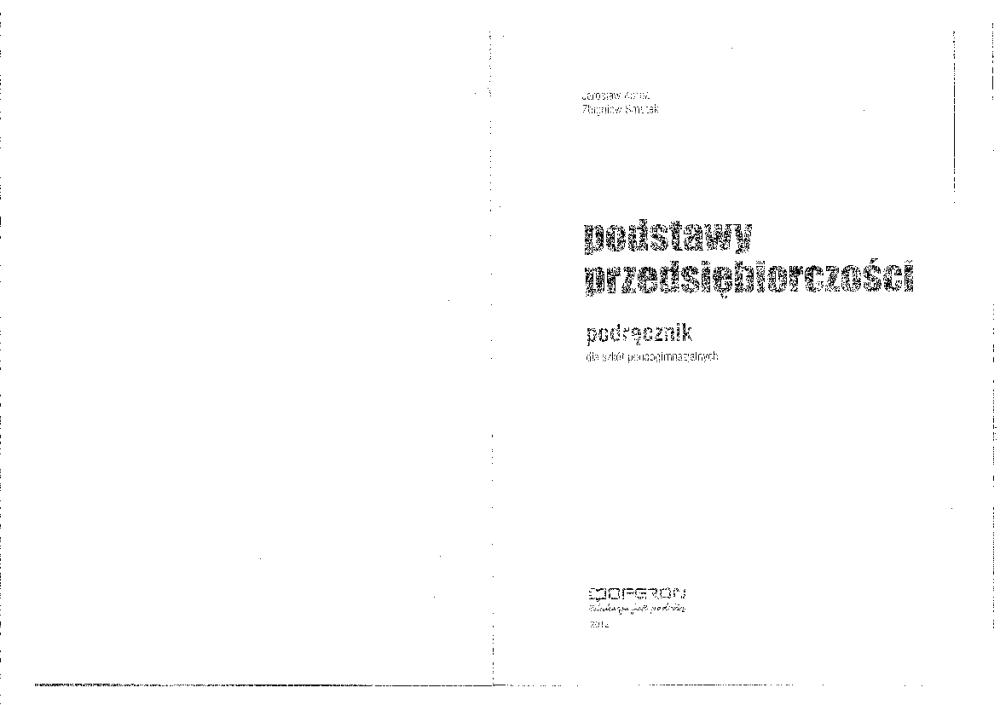 podstawy przedsiębiorczości podręcznik pdf chomikuj